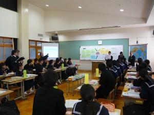 水戸市立第三中学校にて